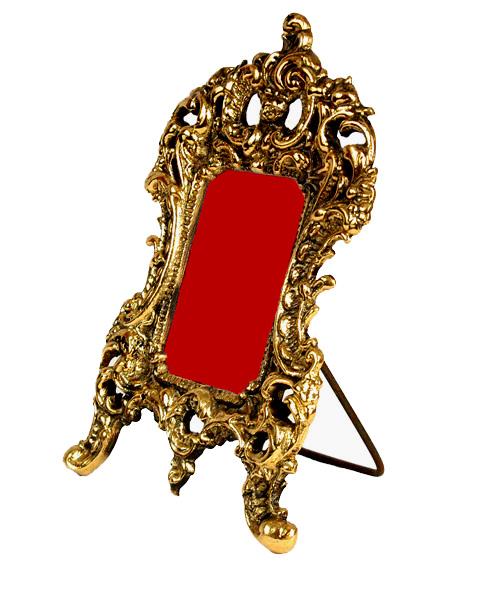 Kleiner Barock Blumentopf Übertopf Pokal Gold Gefäß Metall 15,5cm NEU